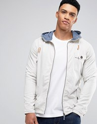 Brave Soul Zip Through Mac Jacket Grey