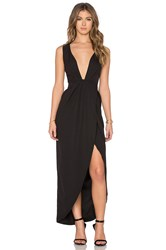 Toby Heart Ginger X Love Indie Lina Cross Front Maxi Dress Black