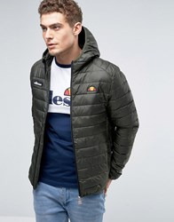Ellesse Padded Jacket With Hood Green