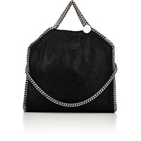 Stella Mccartney Women's Falabella Shaggy Deer Foldover Tote Black Blue Black Blue