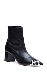 Frances Valentine Women's 'Belle' Pointy Toe Bootie Black Nappa Calfhair