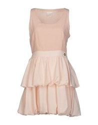Maison Espin Short Dresses Light Pink