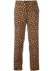 Etro Floral Printed Cropped Trousers Black