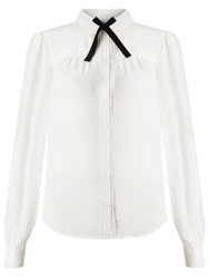 Alice By Temperley Somerset By Alice Temperley Bow Neck Blouse Top Ivory