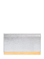 Saint Laurent Lutetia Metallic Leather Clutch
