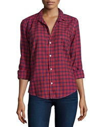 Frank And Eileen Barry Plaid Long Sleeve Shirt Red