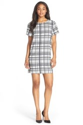 Felicity And Coco Print Crepe Shift Dress Black