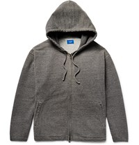 Beams Loopback Cotton Jersey Zip Up Hoodie Gray