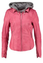 Freaky Nation Heaven Leather Jacket Bright Rose Pink