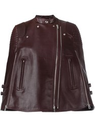 Givenchy Short Biker Poncho Red