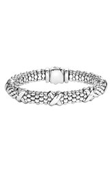 Lagos Women's 'Signature Caviar' Oval Rope Bracelet Sterling Silver