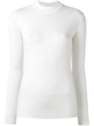 Courreges Ribbed Jumper White