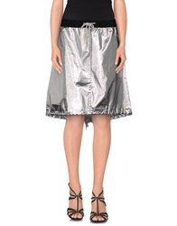Department 5 Skirts Knee Length Skirts Women Silver