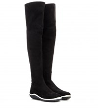 Miu Miu Suede Over The Knee Boots Black