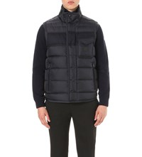 Moncler Quilted Down Filled Gilet Navy