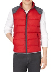 Calvin Klein Colorblock Puffer Vest Red
