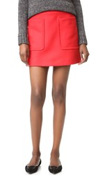 N 21 Skirt With Pockets Red