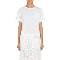 Sacai Women's Lace Back T Shirt White