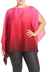 Plus Size Women's Vince Camuto Ombre Poncho Top