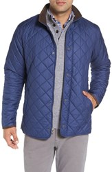 Peter Millar Men's 'Norfolk' Water Resistant Quilted Jacket Pacific