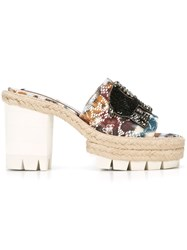 Nao21 Embellished Elephant Patch Sandals Multicolour