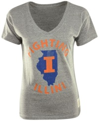 Retro Brand Women's Illinois Fighting Illini Graphic T Shirt Gray