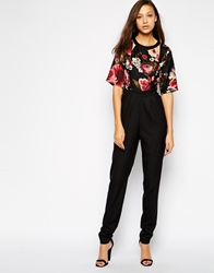 Girls On Film Tall Textured Floral 2 In 1 Jumpsuit Multi