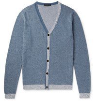 Etro Cotton And Cahmere Blend Cardigan Blue
