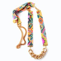 Shh By Sadie Sea Candy Woven Necklace Gold