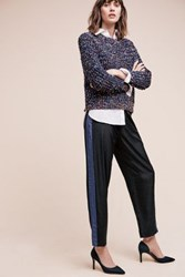 Anthropologie Perivale Colorblock Trousers Black