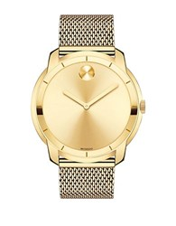 Movado Ionic Goldplated Steel Chain Bracelet Watch