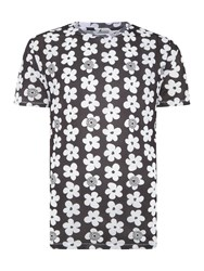 Soulland Regular Fit All Over Flower Print T Shirt White