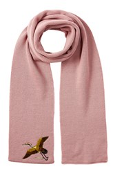 Dsquared2 Wool Scarf With Embroidery Rose