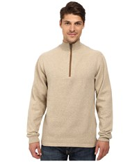Woolrich Boysen Half Zip Oatmeal Heather Men's Clothing Beige