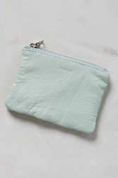 Anthropologie Bits And Bobs Leather Pouch Green