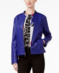Alfani Perforated Faux Leather Jacket Only At Macy's Alf French Plum