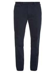 Fendi Slim Leg Chino Trousers Navy