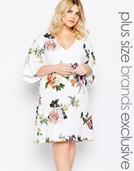 Truly You Overscale Rose Print Shift Dress Multi