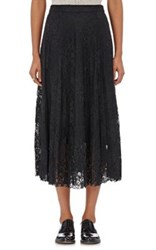 R R Studio By Robert Rodriguez Women's Layered Chantilly Lace Midi Skirt Black