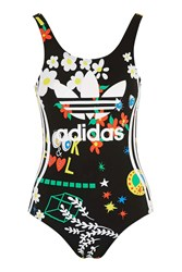 Floral Swimsuit By Adidas Originals Black