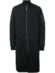 Rick Owens Drkshdw Long Bomber Jacket Black