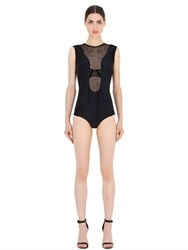Emiliano Rinaldi Lace And Neoprene Bodysuit