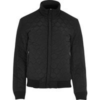 Vito River Island Mens Black Quilted Jacket