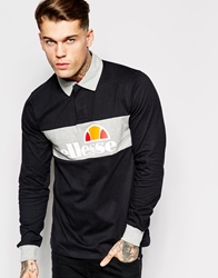 Ellesse Rugby Shirt With Long Sleeves Black