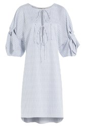 Three Graces London Striped Cotton Nightgown Stripes