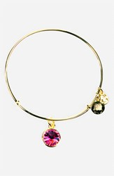 Women's Alex And Ani Birthstone Expandable Wire Bangle October Rose