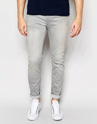 Only And Sons Light Grey Slim Fit Jeans Grey