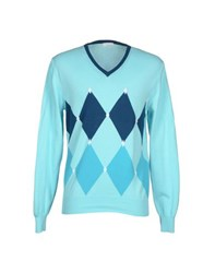 Heritage Knitwear Jumpers Men Turquoise