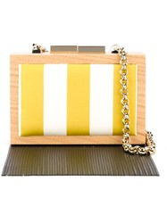 Laurafed Fringed Box Clutch White