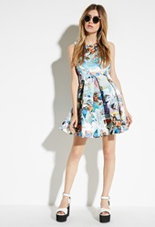 Forever 21 Jaded London Crystal Skater Dress White Multi